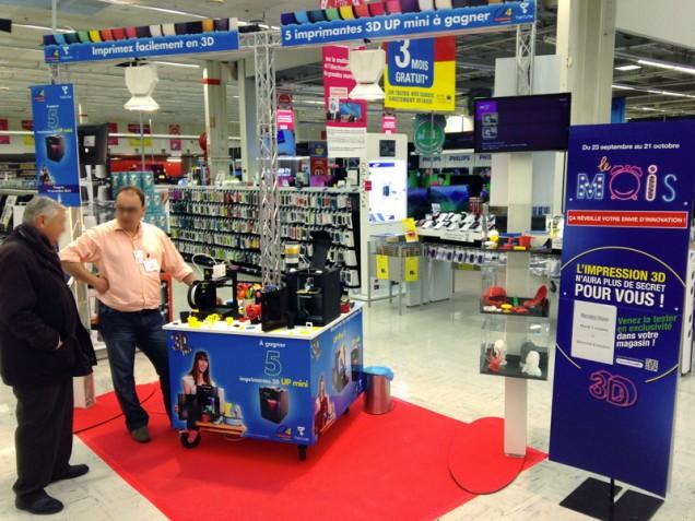 Démonstration d'impression 3D au Carrefour Villiers en Biere