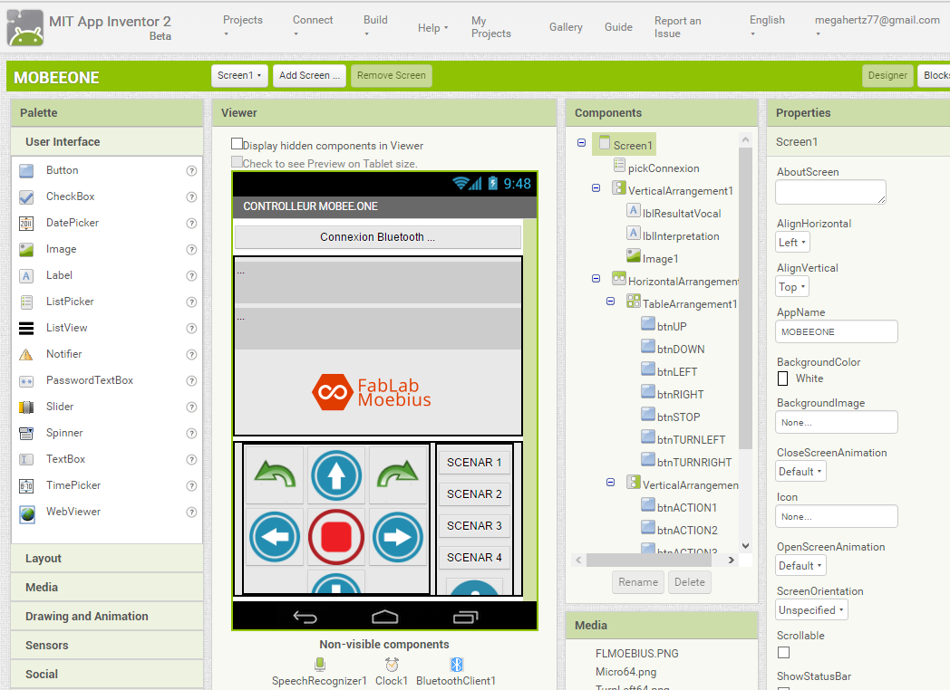Concepteur d'interface App Inventor