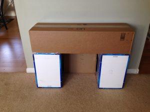 Les cartons de Cotsco (le Métro local) sont parfaits pour fare la structure).
