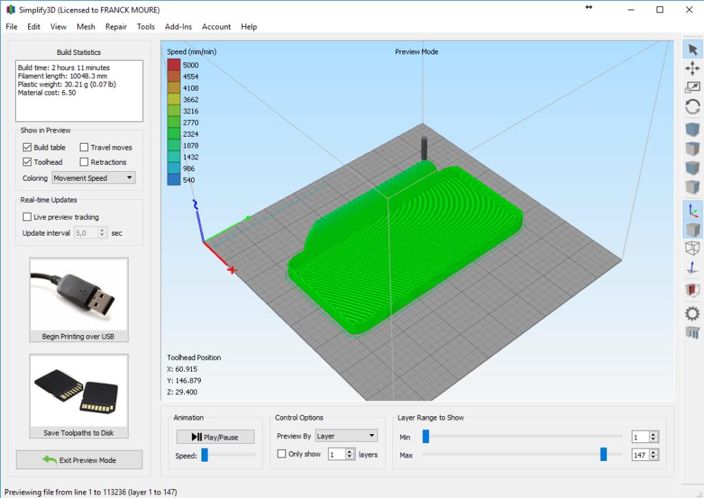 Tranchage du modèle 3D