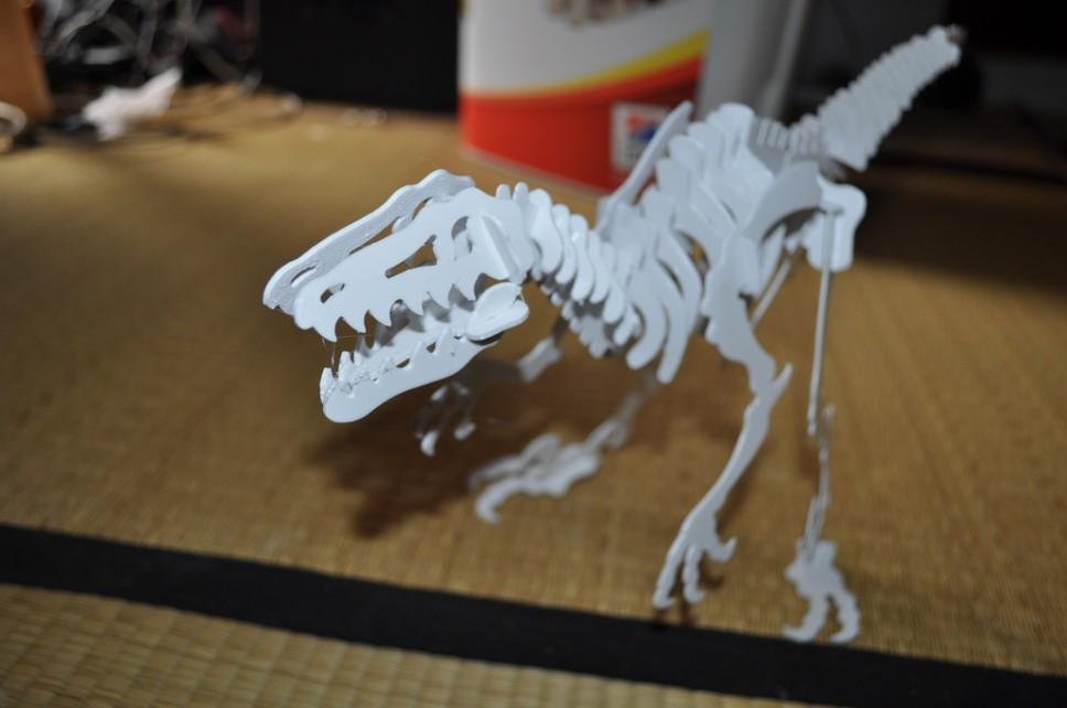 Puzzle impression 3d velociraptor
